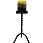 Black Large 10 Inch Pillar Stand