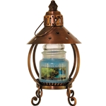Copper Heart Candle Lantern