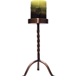 Copper Large 10 Inch Pillar Stand