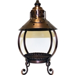 Copper Star Candle Lantern